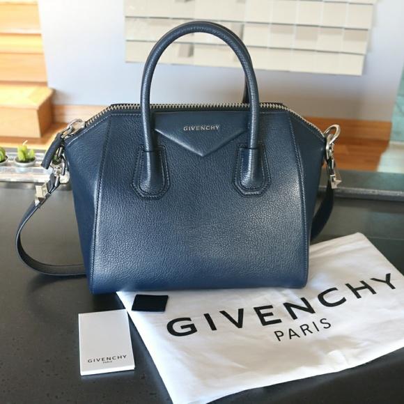 bf97284555f Givenchy Handbags - Givenchy Antigona Small Matte Night Blue